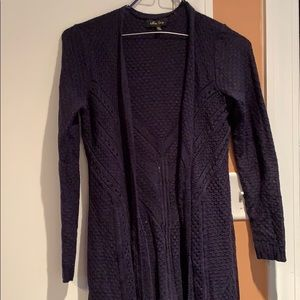 XS Navy duster sweater in good condition.